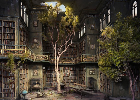 old-shattered-library