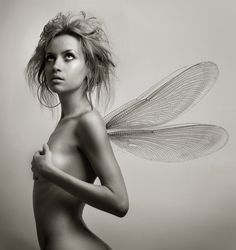Girl with wings. Art Fashion photography